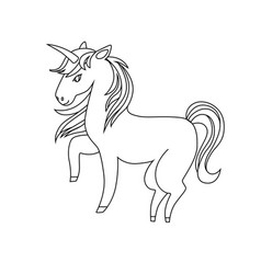 Unicorn icon character 07 vector