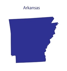 United States Arkansas vector image