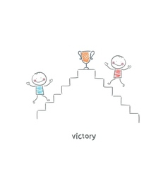 Victory vector image