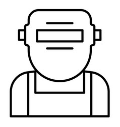 Welder mask face icon outline style vector