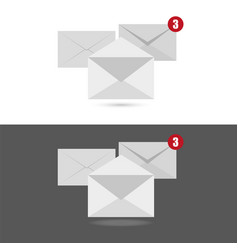 white envelopes letter with counter notification vector image