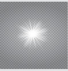 white glowing light burst explosion vector image