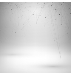 Wireframe mesh polygonal element vector image