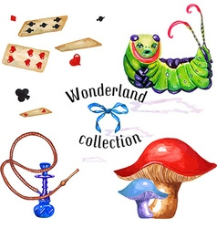 Wonderland set vector