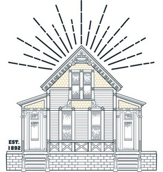 000 old house vector image