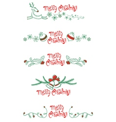 Christmas elements set vector image vector image