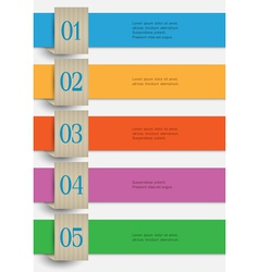 Colored paper numbered banners vector image vector image