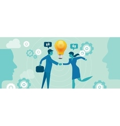 corporate company innovation collaboration people vector image vector image