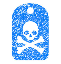 death sticker grunge icon vector image