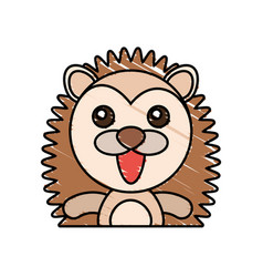 draw porcupine animal comic vector image vector image