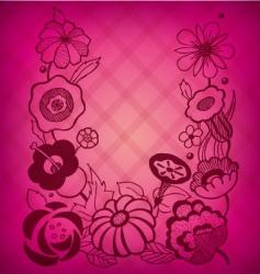 magenta floral background vector image vector image