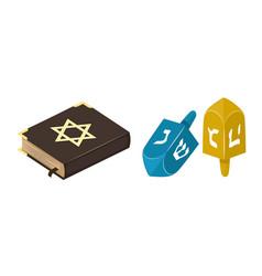 muslim tradition islam source jew bible book vector image