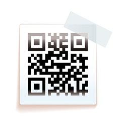 QR paper tag vector image