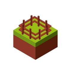 Wood fence icon isometric design graphic vector