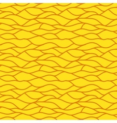 Yellow seamless abstract hand-drawn pattern vector image vector image