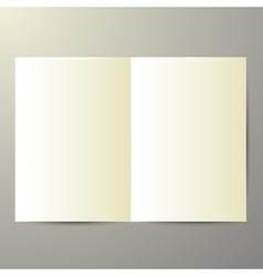 blank magazine on white background vector image