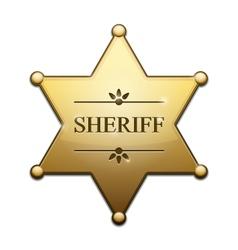 Golden Sheriff Star vector image
