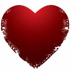 grunge Valentine's heart vector image vector image