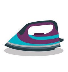 Home appliance iron isolated icon vector