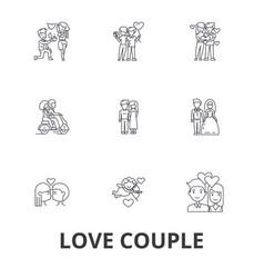 love couple romantic love heart kissing love vector image