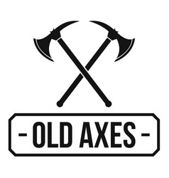 old axe logo simple black style vector image