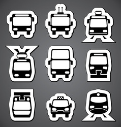 public transport label vector image vector image