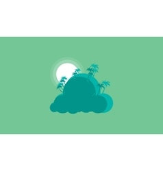 Silhouette of palm landscape style vector image vector image