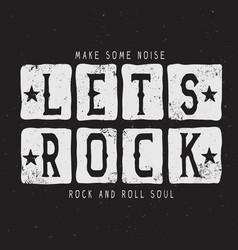 the text-lets rock vector image