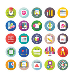 web design and development icons 9 vector image