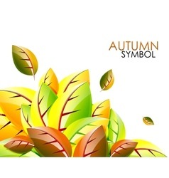 abstract autumn leaf background vector image