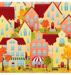 Autumn Town vector image