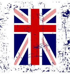 british flag cross white vector image vector image