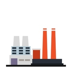 Factory building icon vector image