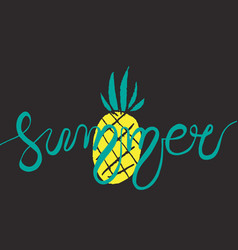 hand drawn lettering - summer vector image