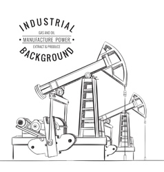 Oil pump isolated vector image vector image