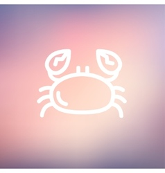Crab thin line icon vector image vector image