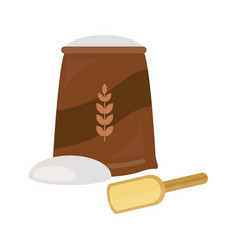 flour fresh baked bread products icons vector image