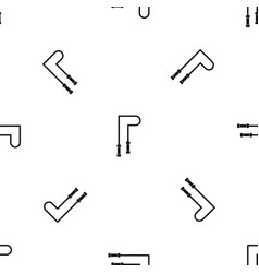 skipping rope pattern seamless black vector image