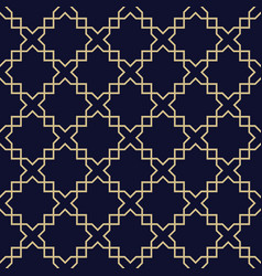 Abstract arabic seamless patterndark blue and vector