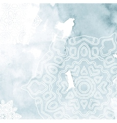 Abstract background with snowflake vector image