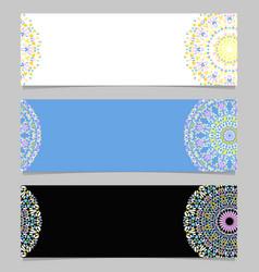 Abstract horizontal colorful gemstone mandala vector