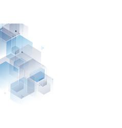 abstract polygonal background hexagon design vector image