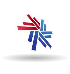 Abstract snowflake symbol vector