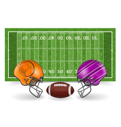 american football field with ball vector image
