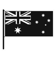 australian flag icon simple style vector image