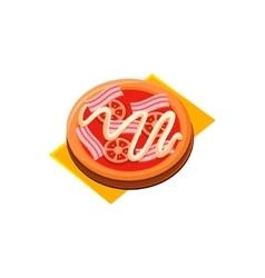 Bacon Tomato Pizza vector