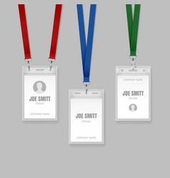 badge on lanyards vector image
