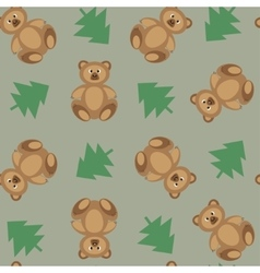 Bears ornament on a green background vector image
