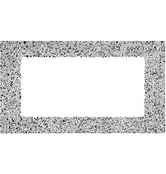 Black grey bubbles rectangle frame random dots vector