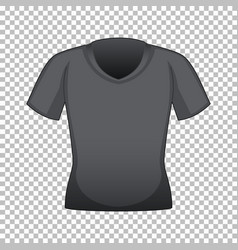 Black t-shirt with no graphic vector